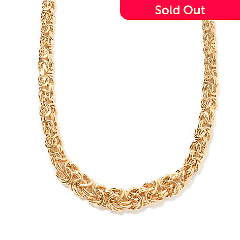 121-345 - Portofino Gold Embraced™ 20'' Polished Byzantine Link Necklace