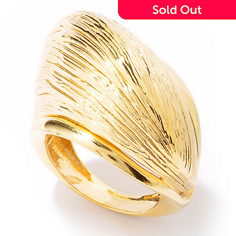 121-347 - Portofino Gold Embraced™ Textured & Twisted Dome Ring