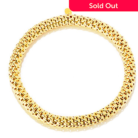 121-348 - Portofino 18K Gold Embraced™ Polished Stretch Slip-on Bracelet
