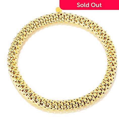 121-348 - Portofino 18K Gold Embraced™ Polished Stretch Slip-on Bracelet