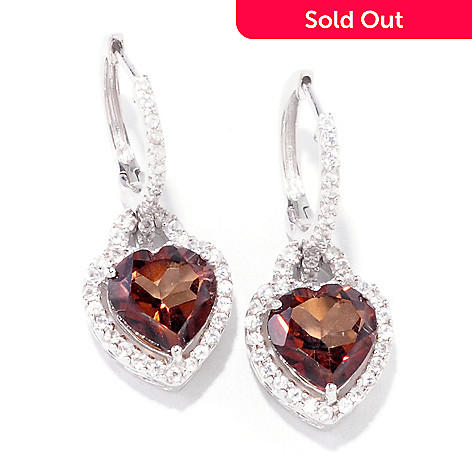 121-406 - Gem Treasures® Sterling Silver 8.40ctw Chocolate Topaz & White Zircon Earrings