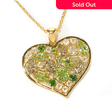 121-464 - NYC II™ Multi Gemstone Heart Pendant w/ 18'' Chain