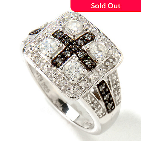 121-481 - NYC II™ White Zircon Cross Ring