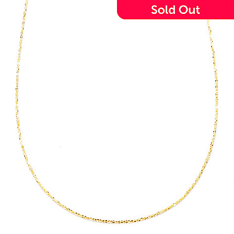 121-536 - Viale18K® Italian Gold 18'' Diamond Cut Chain Necklace, 1.2 grams