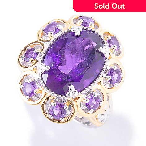 121-564 - Gems en Vogue 6.62ctw Amethyst Ring