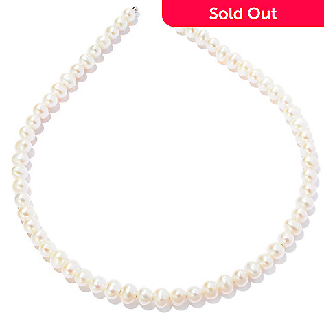 121-637 - 6-7mm White Freshwater Cultured Pearl Headband