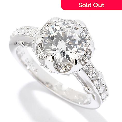 121-680 - Brilliante® Platinum Embraced™ 2.17 DEW Round Cut Simulated Diamond Fancy Set Ring
