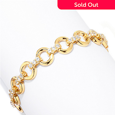 121-714 - Sonia Bitton for Brilliante® Round Cut Circle Link Bracelet