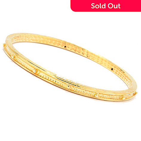 121-722 - Italian Designs with Stefano 14K ''Oro Vita'' 8.5'' Rosary Bangle Bracelet