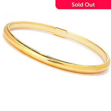 121-731 - Italian Designs with Stefano 14K ''Oro Vita'' 8'' Comfort Fit Bangle Bracelet