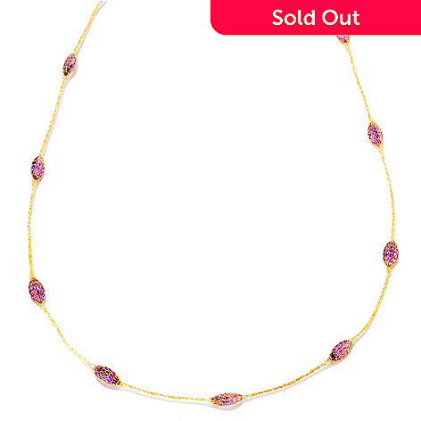 121-739 - Italian Designs with Stefano 14K 36'' 15.30ctw Amethyst Silk Faceted Necklace