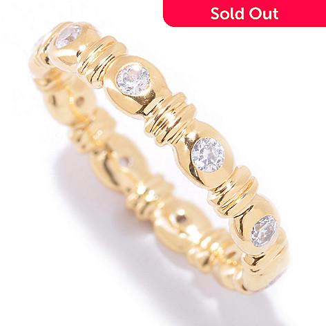 121-764 - Sonia Bitton Round Cut Bezel Set Simulated Diamond Eternity Band Ring