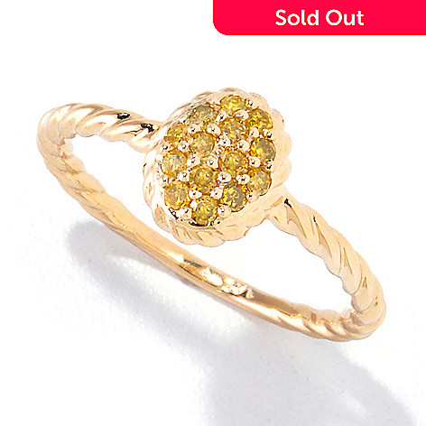 121-834 - Diamond Treasures® 14K Gold 0.28ctw Yellow Diamond Twisted Ring
