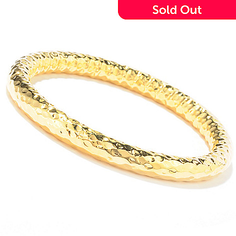 121-845 - Toscana Italiana Gold Embraced™ High Polished Martellato Slip-On Bangle Bracelet