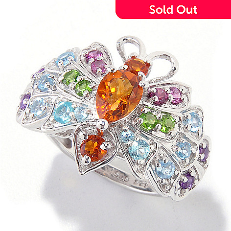 121-888 - NYC II® 1.63ctw Multi Gemstone Butterfly Ring
