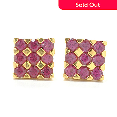 121-897 - NYC II Exotic Gemstone Square Stud Earrings