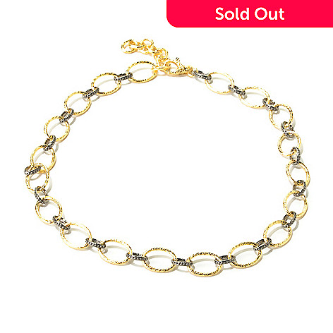 121-899 - Toscana Italiana Gold Embraced™ 20'' Two-tone Rolo Link Necklace w/ Extender