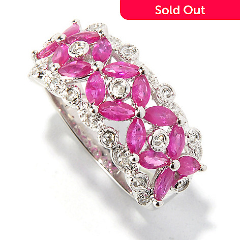 121-901 - NYC II™ 1.64ctw Ruby & White Zircon Ring