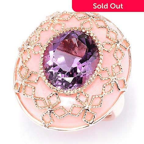 121-902 - NYC II 15.88ctw Oval  Amethyst & Pink Opal Ring