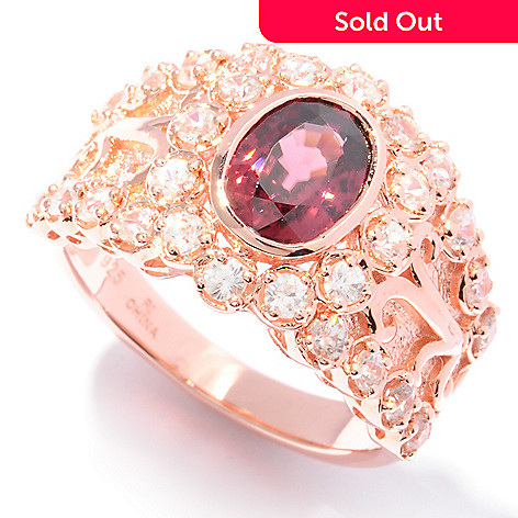 121-966 - NYC II™ 2.84ctw Raspberry & White Zircon Ring