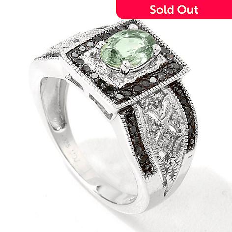 121-995 - Gem Treasures® Sterling Silver 1.20ctw Sapphire & Multi Color Diamond Ring