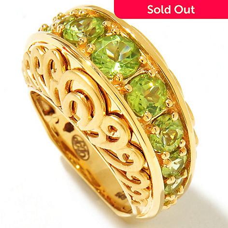 122-008 - Dallas Prince 2.89ctw Peridot Anniversary-Style Ring