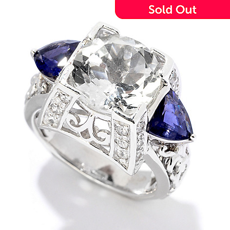 122-013 - Dallas Prince Designs Sterling Silver 5.60ctw White Topaz & Multi Gemstone Ring