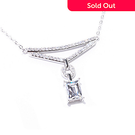 122-078 -  TYCOON Platinum Embraced™ 18'' 3.31 DEW Simulated Diamond Drop Necklace