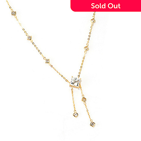 122-080 - TYCOON 18'' 3.32 DEW Square Cut Station Simulated Diamond Chain Necklace