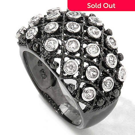 122-147 - NYC II Black Rhodium White Zircon Dome Ring