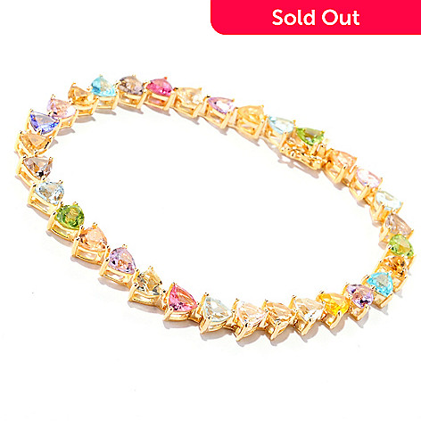 122-148 - NYC II Trillion Cut Multi Gemstone ''Kaleidoscope II'' Tennis Bracelet