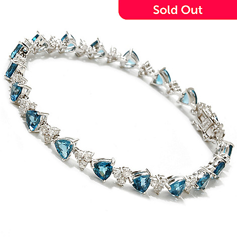 122-149 - NYC II™ Trillion Cut London Blue Topaz & White Zircon Bracelet