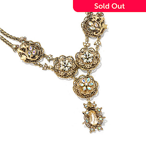122-221 - Sweet Romance™ 22'' Gold-tone ''Elizabeth Gilded Garden'' Necklace