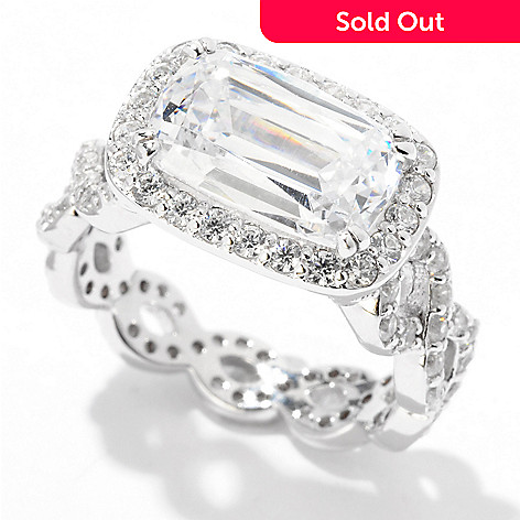 122-295 - Brilliante® Platinum Embraced™ 5.15 DEW Simulated Diamond Eternity Band Ring