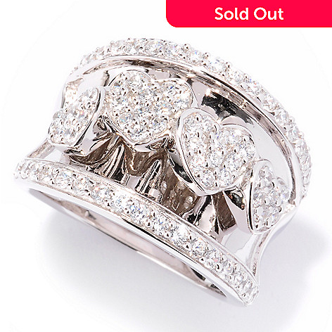 122-308 - Sonia Bitton for Brilliante® 1.18 DEW Round Cut Overlapping Hearts Concave Ring