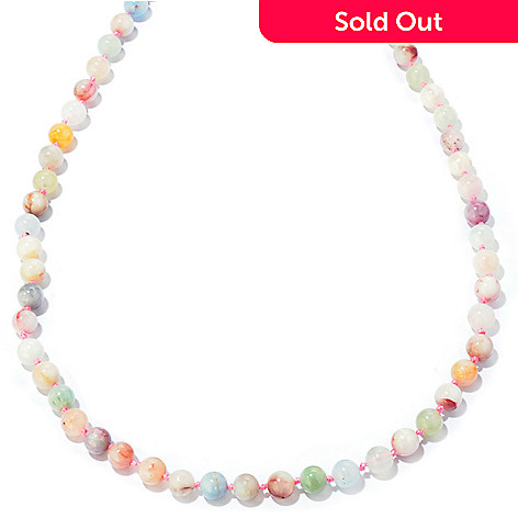 122-337 - Gem Treasures® Sterling Silver 36'' Morganite & Colors of Beryl Necklace