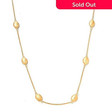 122-384 - Charles Garnier 36'' Electroform ''Marianne'' Station Necklace