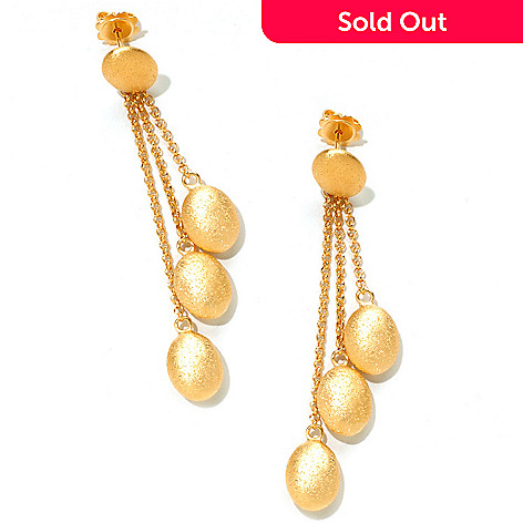 122-385 - Charles Garnier Electroform Diamantini Three-Drop Earrings