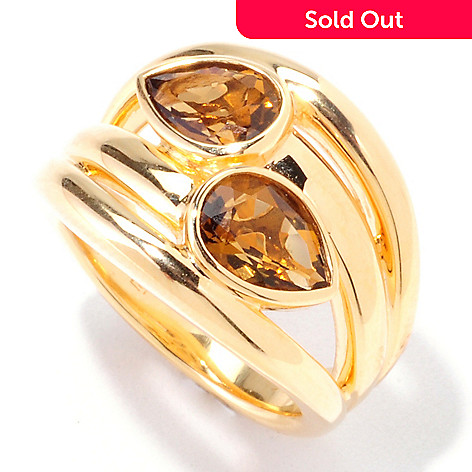 122-401 - Omar Torres 2.08ctw Pear Shaped Honey Citrine Ring