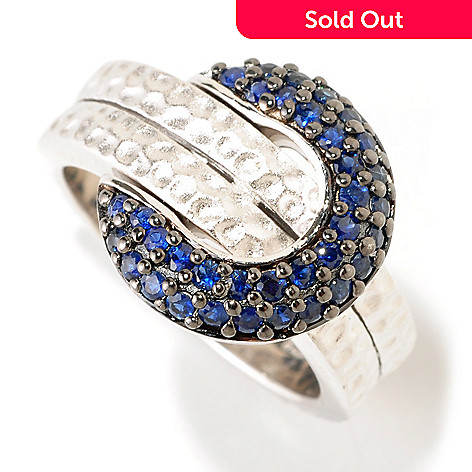 124-845 - EFFY Sterling Silver Blue Sapphire ''Balissima'' Belt Buckle Ring