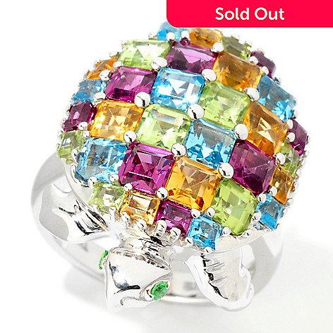 124-898 - NYC II™ 5.44 ctw Princess Cut Multi Gemstone Turtle Ring