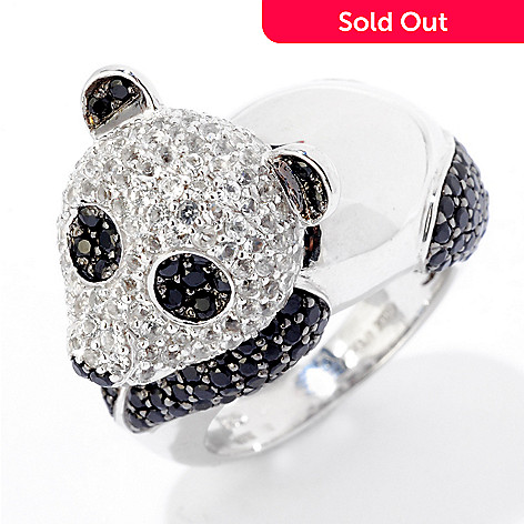 124-899 - NYC II 3.53ctw Black Spinel & White Topaz Panda Ring