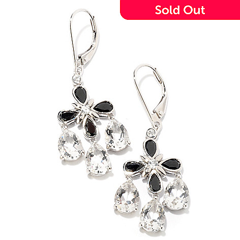 124-945 - NYC II™ 6.64ctw Black Spinel, Quartz & White Zircon Earrings
