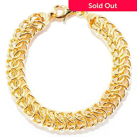 124-951 - Portofino Gold Embraced™ 8'' Interwoven Cestina Link Bracelet