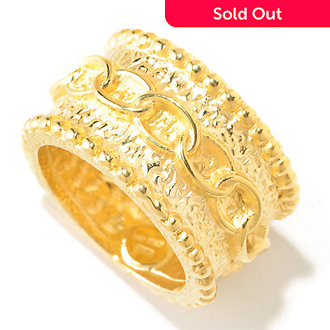 124-990 - Italian Designs with Stefano 14K Gold ''Oro Vita'' Band Ring