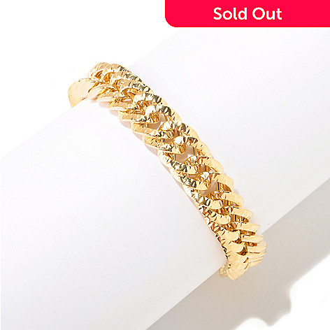 125-019 - Italian Designs with Stefano 14K Gold 7.5'' Reversible Bracelet, 12.87 grams