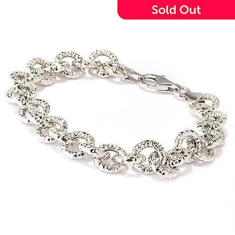 125-032 - Palatino™ Platinum Embraced™ Diamond Cut Rolo Link Bracelet
