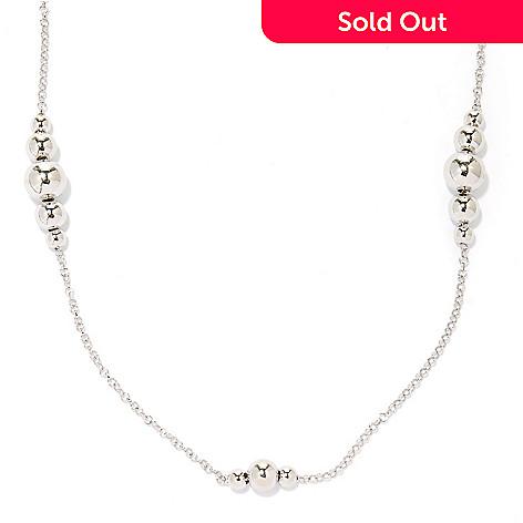 125-037 - Palatino™ Platinum Embraced™ 28'' Graduated Bead Station Necklace