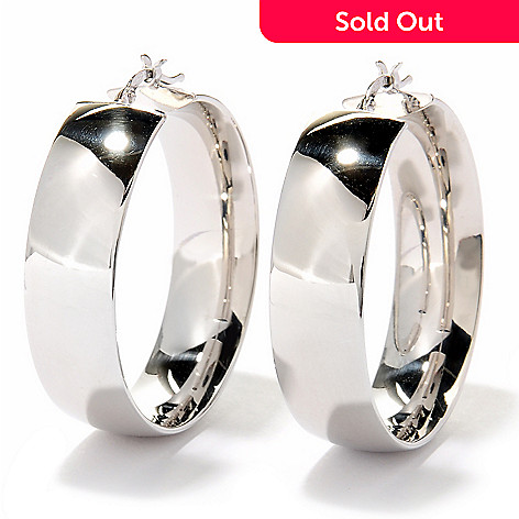 125-045 - Palatino™ Platinum Embraced™ High Polished Wide Hoop Earrings