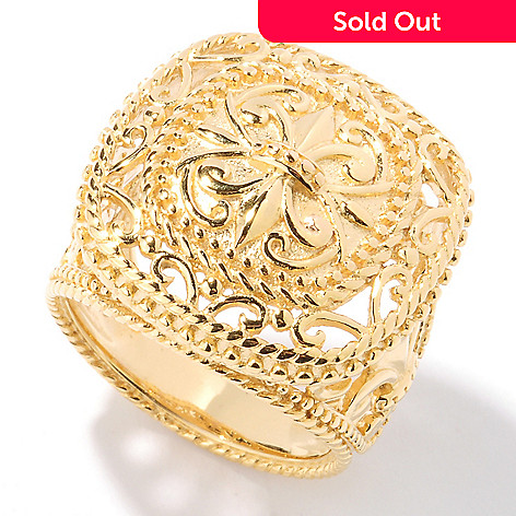 125-052 - Jaipur Bazaar Gold Embraced™ Polished Shield Ring